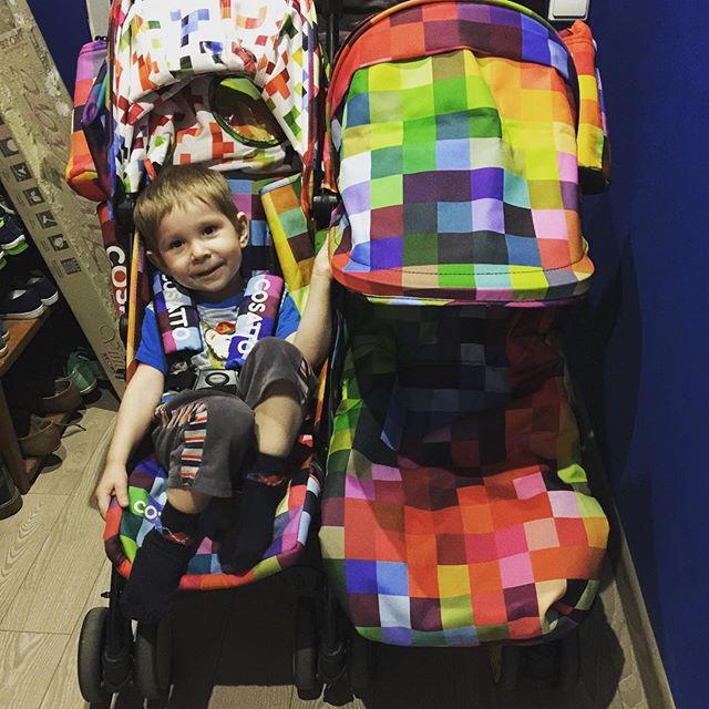 фото коляски для двойни Косатто Supa Dupa