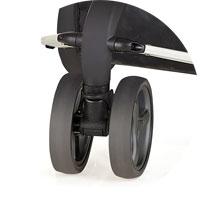 Переднее двойное поворотное колесо, оснащено фиксатором